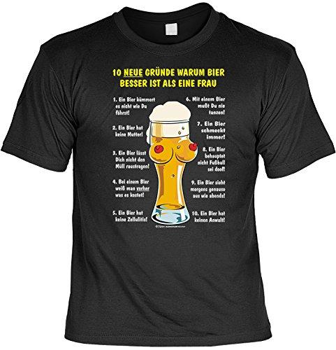 Witziges Sprüche Fun T-Shirt : 10 Gründe, warum Bier besser ist als eine Frau (Besseres T-shirt Ein)