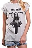 Cafe Racer T-Shirt für Damen mit Motorrad Print - BMW Boxer Twin - Rundhals Top lässig Oversize...