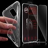XAiOX® 2 in 1 Set für Samsung Galaxy S5 Mini Echt Glas Panzerglas + TPU Schutzhülle in klar transparent