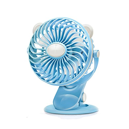 Mute 2 in 1 Clip On & Stand Desk Table Shelf Fan Tragbare Geschwindigkeit Einstellbare 360 ​​° Kühlung Home Office Fan ( Farbe : Blau )