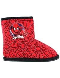 Garçons Marvel Spider-Man Hiver Chaussons Bottines Chaussures Noires Tout-petit Enfants taille UK 7 - 12