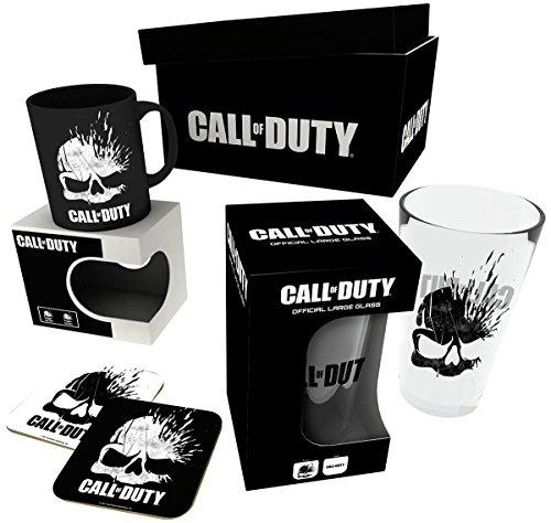 Call Of Duty – Skull Fanpaket Tasse, Glas und Untersetzer