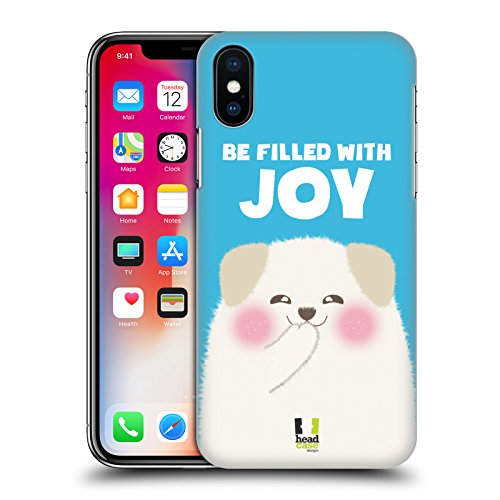 Head Case Designs Stay Positive Animali Felici Cover Retro Rigida per Apple iPhone X Be Filled With Joy