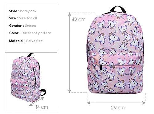 Imagen de smallbox 2017 kawaii moda 3d impresión unicornio patrón niñas escuela  para la escuela de viajes gimnasio pack de 4  alternativa