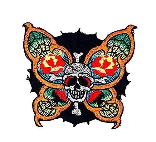 Spider Web Skull Cartoon Kids Kinder Cute Animal Patch für Heimwerker-Applikation Eisen auf Patch T Shirt Patch Sew Iron on gesticktes Badge Schild Kostüm (Skull Kid Kostüme)