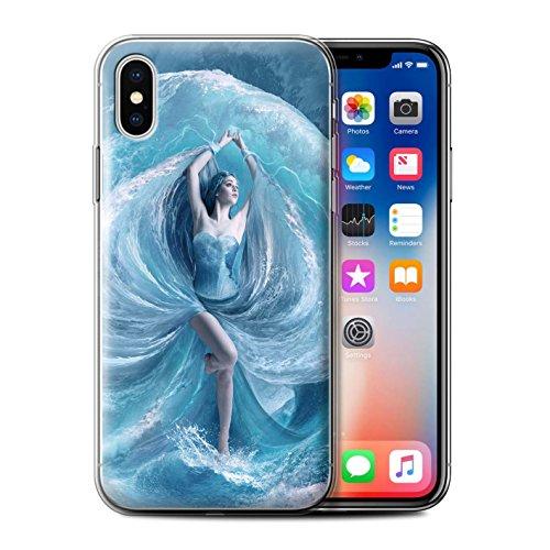 Offiziell Elena Dudina Hülle / Gel TPU Case für Apple iPhone X/10 / Air-Kleid Muster / Fantasie Engel Kollektion Meer Kleid