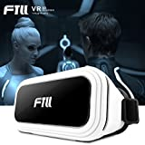 FTLL 3D VR gafas, Auriculares Realidad virtual Caja con Ajustable Lente y Correa for iPhone 7/7pus 6/ 6s plus iphone5/5s Samsung Galaxy S4/5/6/7/C5/7/A3/7/5/9 Edge Note 4/5/6/7 LG G5
