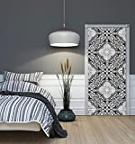 DekoShop Fototapete Tür Vlies - Tapete Imitation, Struktur und Textur Wandtapete Mosaic AMD10106VET Vet (211 cm. x 91cm.)