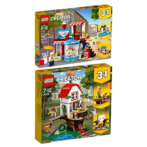 Lego Creator 2er Set 31077 31078 Modulares Zuckerhaus + Baumhausschätze