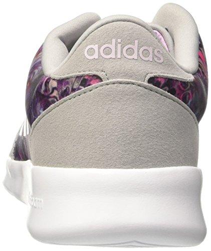 adidas Cloudfoam QT Racer W, Sneaker Basses Femme Bleu (Onicla/orqcla/ftwbla)
