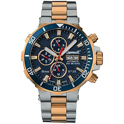Ingersoll Herren Analog Automatik Uhr mit Edelstahl Armband IN1314GBLM