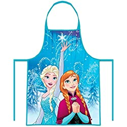 CARTOON WORLD Set Cucina Grembiule e Cappello Chef Cuoca Disney Frozen -  Elsa e Anna 7ccac6c08965