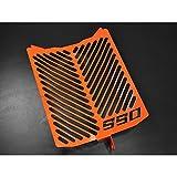KTM 990 Supermoto SM-T BJ 2009-14 / SM-R BJ 2009-14 Kühlerabdeckung Wasserkühler Kühlergrill Kühlerschutz Kühlergitter Kühlerschutzgitter Kühlerverkleidung Logo orange