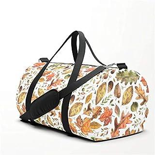 AutumnFall Leaves Travel Sport Barrel Duffle Bag