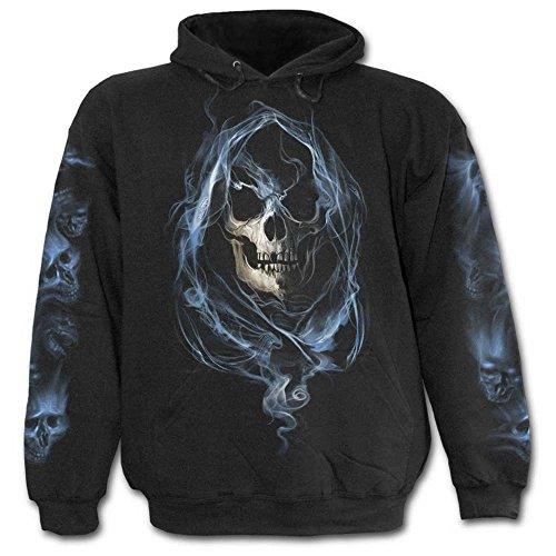 Ghost Reaper, gothic metal fantasy esqueleto de hombre con capucha negro - L - Spiral Direct