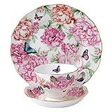 Royal Albert pour Miranda Kerr Nouveauté 2014-3 pièces (Tasse à thé-Sous-tasse et assiette Gratitude-Superbe écrin