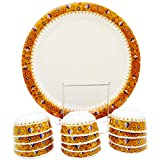 Smart Dinning 100% Melamine Dinner Set Of 18 Pieces Plates And Bowls, Mustard