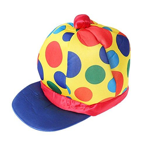 Fenical Lustige Erwachsene Clown Cosplay Requisiten Leistung Headwear Kostüm Zubehör Hüte für Halloween Party