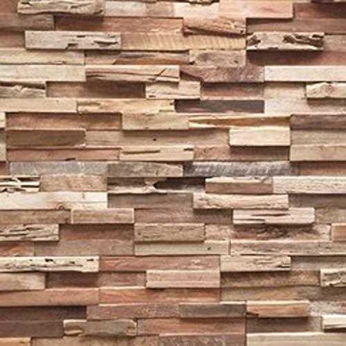 3D Holzpaneele/Holzverblender - Wandpaneele Holz für Wand - Ultrawood Wandverkleidung Innen - Haus, Wohnzimmer, Bett, TV usw. (Teak Colorado)