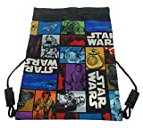 Star Wars Official Drawstring Trainer Bag 43cm. Black/Multicoloured