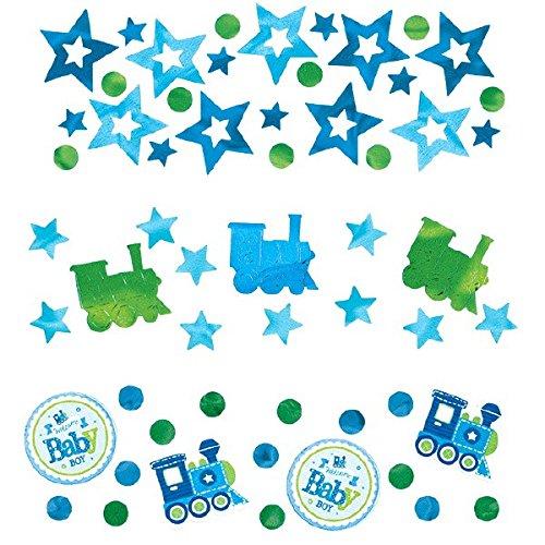 Amscan 36146134G Welcome Baby Boy Wert Konfetti (Pack von 3)