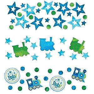 Amscan-Confeti (Baby Boy Valor de bienvenida 36146134g (3unidades)
