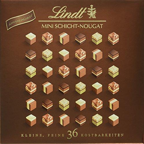 Lindt Mini Pralines Schicht-Nougat, Auswahl feinster Nougat Kreationen, 5 unterschiedliche Sorten, glutenfrei, 165g