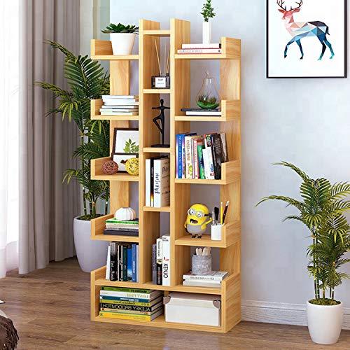 Kawachi DIY Multifunctional Floor Standing Book Shelf Home Decor Display Storage Organiser Rack Beige