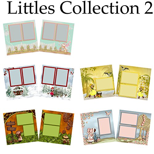 Little Collection Scrapbook-Set mit 5 doppelseitigen Layouts, 2 Stück -