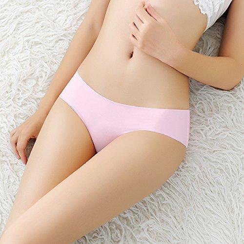 YALL-Weibliche Niedrigtaille Slip Normallack einteiliges Eis Seide Damen-Unterwäsche fen