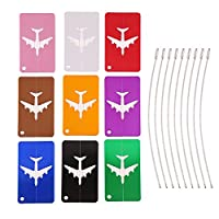 9 Pieces Colorful Travel Luggage Tags Fashion Travel ID Bag Tags for Travel Business by VEYLIN