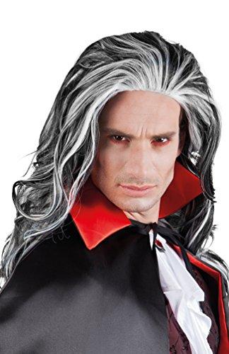 Karneval-Klamotten' Kostüm Perücke Vampir Dracula Mann Lang Zubehör Halloween Karneval