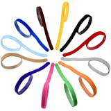 eBoot Adjustable Puppy Dog ID Bands Collars, 12 Pieces, Assorted Colors