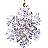Relaxdays Schneeflocke mit 7 LEDs 14,5 cm