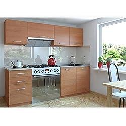 JUSTyou Economy Cocina completa 180 cm Color: Aliso