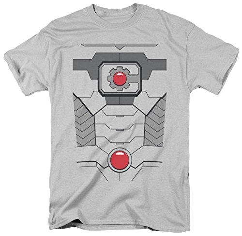 Cyborg New Uniform Kostüm Erwachsene T-Shirt alle Größen - Silber - Klein