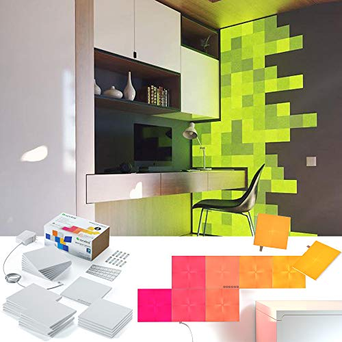 nanoleaf Canvas 25er Set inkl. Sound-Modul & Touchsteuerung, 16 Millionen Farben | Sprachsteuerung, Apple HomeKit & google assistant kompatibel, Plug & Play, iOS & Android App, LED-Square Panel Apple