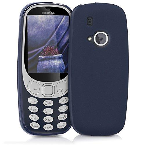 kwmobile Hülle für Nokia 3310 (2017) - TPU Silikon Backcover Case Handy Schutzhülle - Cover Dunkelblau matt