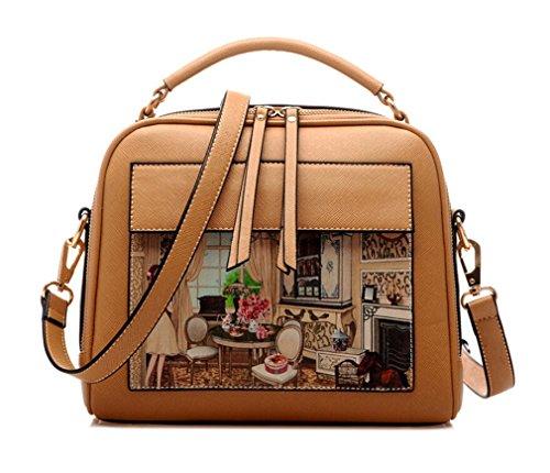 Hobo International Womens Wallet (TianHengYi ,  Damen Tornistertasche , - Khaki - Größe: Medium)