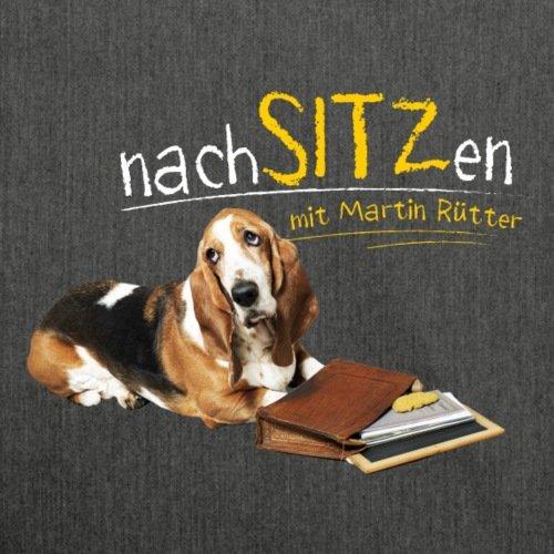 Spreadshirt Martin Rütter Nachsitzen Schultertasche aus Recycling-Material Schwarz Meliert