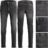 JACK & JONES Jeans Herren Tom Tim Glenn Hose Schwarz Grau Elasthan Slim FIT Regular (W31 / L34, Glenn 007)