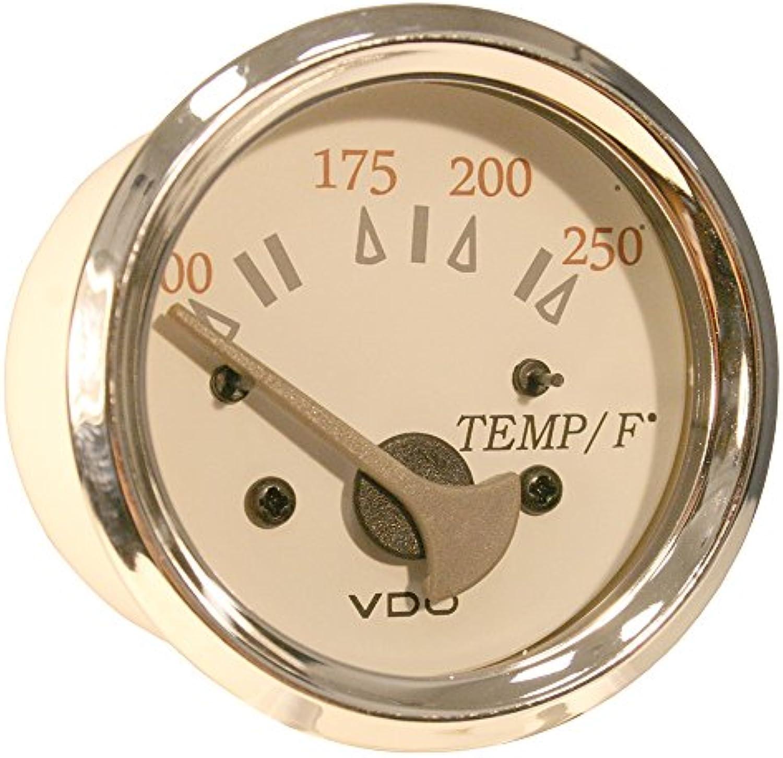VDO Allentare White/Grey 250176; F Water Temperature Gauge - Use w/Marine 450-29 Ohm sender - 12V