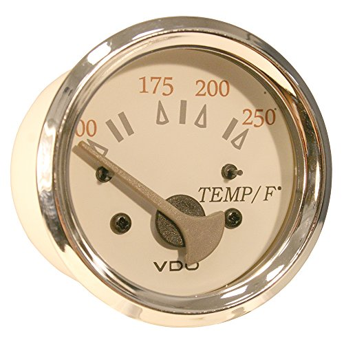 VDO Allentare White/Grey 250° F Water Temperature Gauge - Use w/Marine 450-29 Ohm Sender - 12V