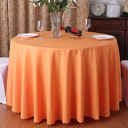 Hotel tonda tovaglie,tinta unita formati multipli tovaglia da tavola,semplice lavabile ornamento della casa ristorante partito tavolo del buffet da tavolo protector-arancione diameter:180cm(71inch)