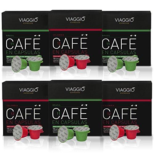 VIAGGIO ESPRESSO - 60 Cápsulas de Café Compatibles con Máquinas Nespresso - ORIGENES