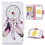 Coque iPhone 5S , CaseLover Motif Peint Mode Attrape Reve PU Cuir Étui Coque pour...