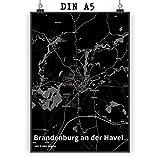 Mr. & Mrs. Panda Poster DIN A5 Stadt Brandenburg an der