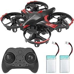 REDPAWZ R012 Mini Drone, RC Quadcopter con Toss/Shake Take Off Control Gestos,Evitación de obstáculos,Modo sin Cabeza,Estabilización de Altitud, Niños y Principiantes-2 Baterías