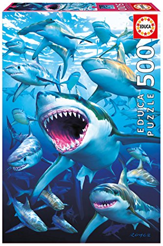 Educa Borrás - 17085.0 - Puzzle - 500 Requins - Shark Club