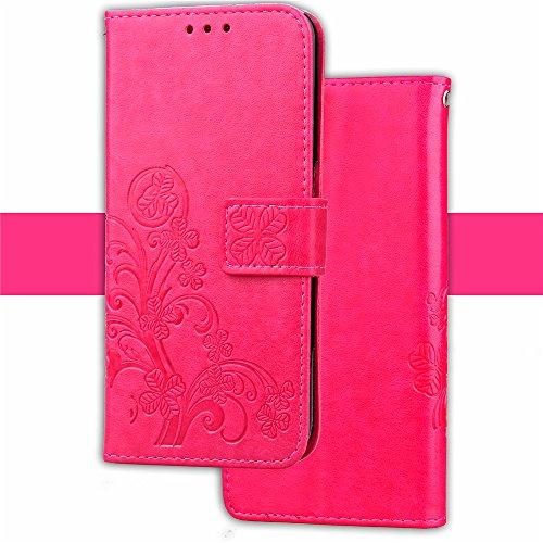 Funda Xiaomi Mi A1 / 5x,funda piel GOGME[Serie Flor Mariposa]Flor de mariposa con relieve retro,Carcasa elegante, resistente, funcional y cómoda.rosa